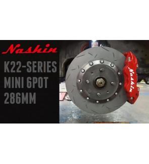 NASHIN (FRONT) : K22-SERIES MINI 6pot 286MM BRAKE KIT
