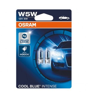OSRAM W5W T10/4090 COOL BLUE INTENSE BULB - 2825HCBI