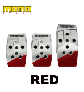 Momo Stealth Blue/Red Manual Pedal Kit-Italy