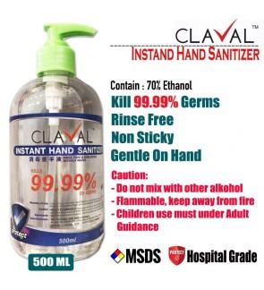 CLAVAL HAND SANITIZER GEL TYPE 500ML