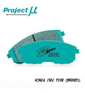 PMU B-Spec Front Brake Pad F300 - Honda Civic Type R FD2R (Brembo Caliper)