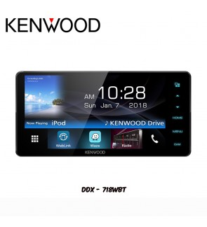 Kenwood USB/Bluetooth Double Din Player - WVGA Display DDX-718WBT