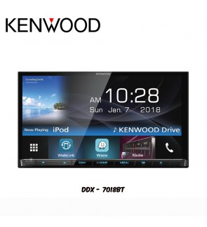 Kenwood Waze 7 Series Nav-App Weblink Bluetooth Double Din Receiver DDX7018BT
