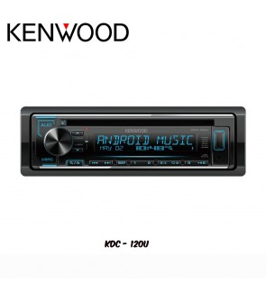 Kenwood USB/CD/FM/AM/MP3/WMA/WAV/FLAC Media Player KDC-120U