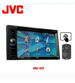 JVC KW-V12 CD + MP3 + USB + DVD Receiver with LCD Display