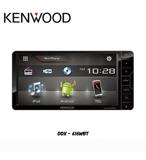 "Kenwood USB/Bluetooth/Android/iPhone Double Din Player (7"") DDX616WBT"