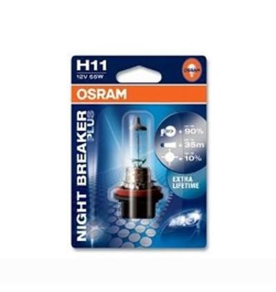 Osram Night Breaker Plus Bulb +90% Brightness H1/H3/H11/HB4/9006
