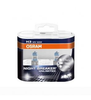 Osram Night Breaker Unlimited Bulb +110% Brightness H3