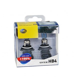 Hella Platinum Bulb +100% Brightness (1 Pair) HB4/9006