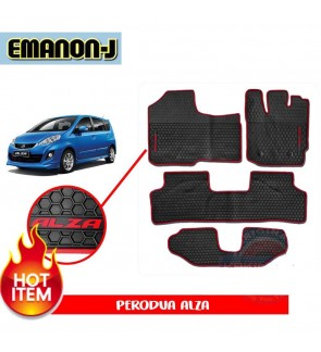 Emanon-J Silicon Floor Mat - Perodua Alza