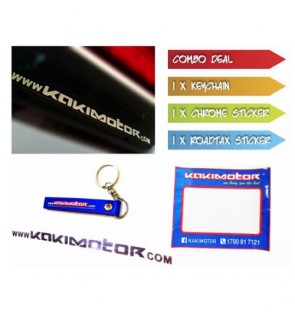Kakimotor Keychain + Sticker + Road Tax Sticker