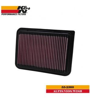 K&N 33-2360 Air Filter - Toyota Vios NCP93 / Altis E140 / Wish ZGE20 09+
