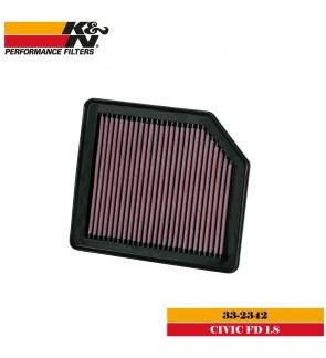 K&N 33-2342 Air Filter - Honda Civic FD 1.8