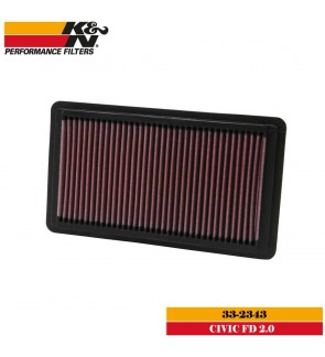 K&N 33-2343 Air Filter - Honda Civic FD 2.0
