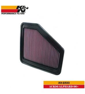 K&N 33-2355 Air Filter - Toyota Estima ACR50 / Alphard Vellfire ANH20 2.4 3.5