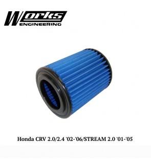 Works Engineering Air Filter - Honda CR-V RD 2.0/2.4 02-06 / Stream 2.0 01-05